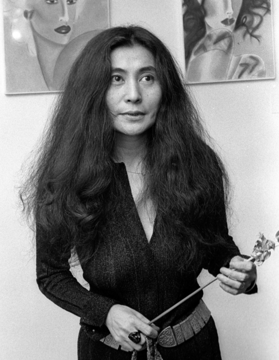 "Yoko Ono attends an exhibit in New York City in 1973, the same year she released the album ""Approximately Infinite Universe."" More than 35 years later, the song ""Move on Fast"" from the album is re-released and makes it to No. 1 on the Billboard chart."