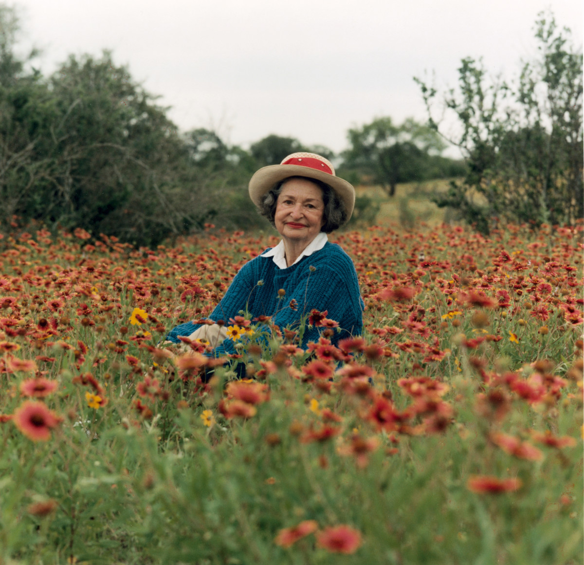 "Lady Bird Johnson: In 1982, Lady Bird Johnson founded the Lady Bird Wildflower Center in Texas to preserve and promote the beauty of the land. She once said: ""My heart found its home long ago in the beauty, mystery, order and disorder of the flowering earth."" (Photo by Education Images/UIG via Getty Images"