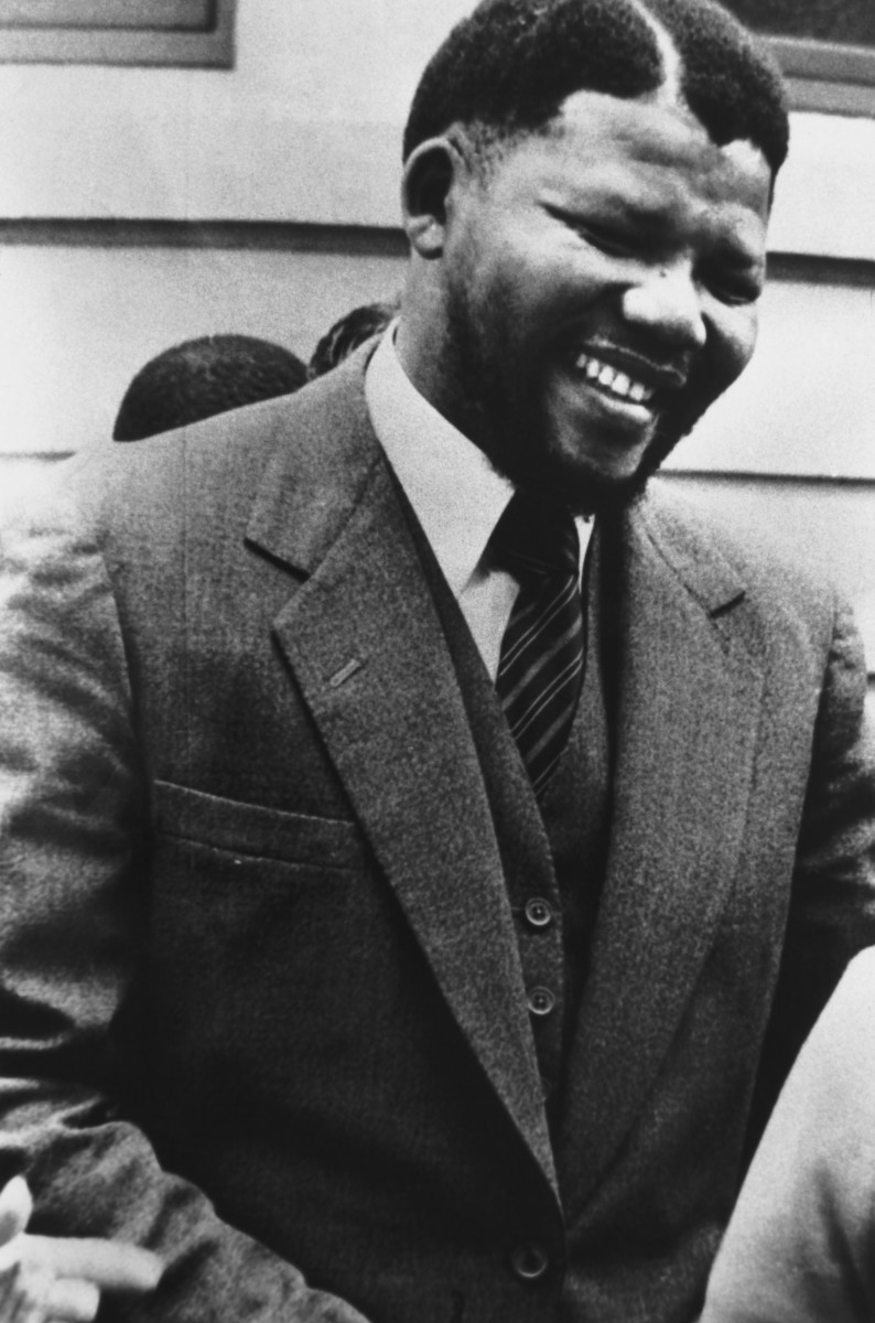 Nelson Mandela was the leader of the African National Congress in the 1960s before he was later sentenced to life in prison for sabotage.