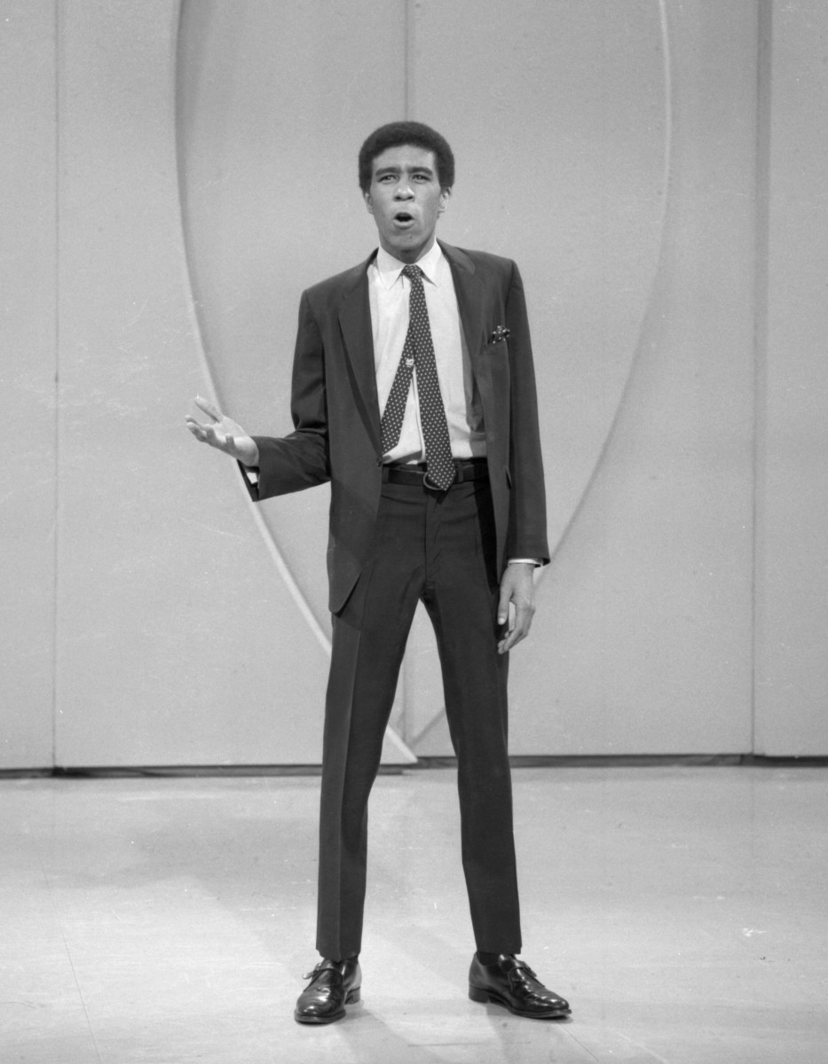 Richard Pryor: Early into his career as a comedian, on February 27, 1966, Richard Pryor does a stand-up routine on The Ed Sullivan Show. (Photo by CBS Photo Archive via Getty Images)