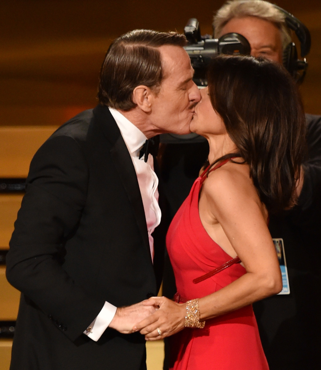 Julia Louis-Dreyfus Bryan Cranston Emmys 2014 Photo
