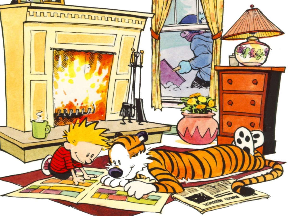 Calvin and Hobbes by Bill Watterson Photo