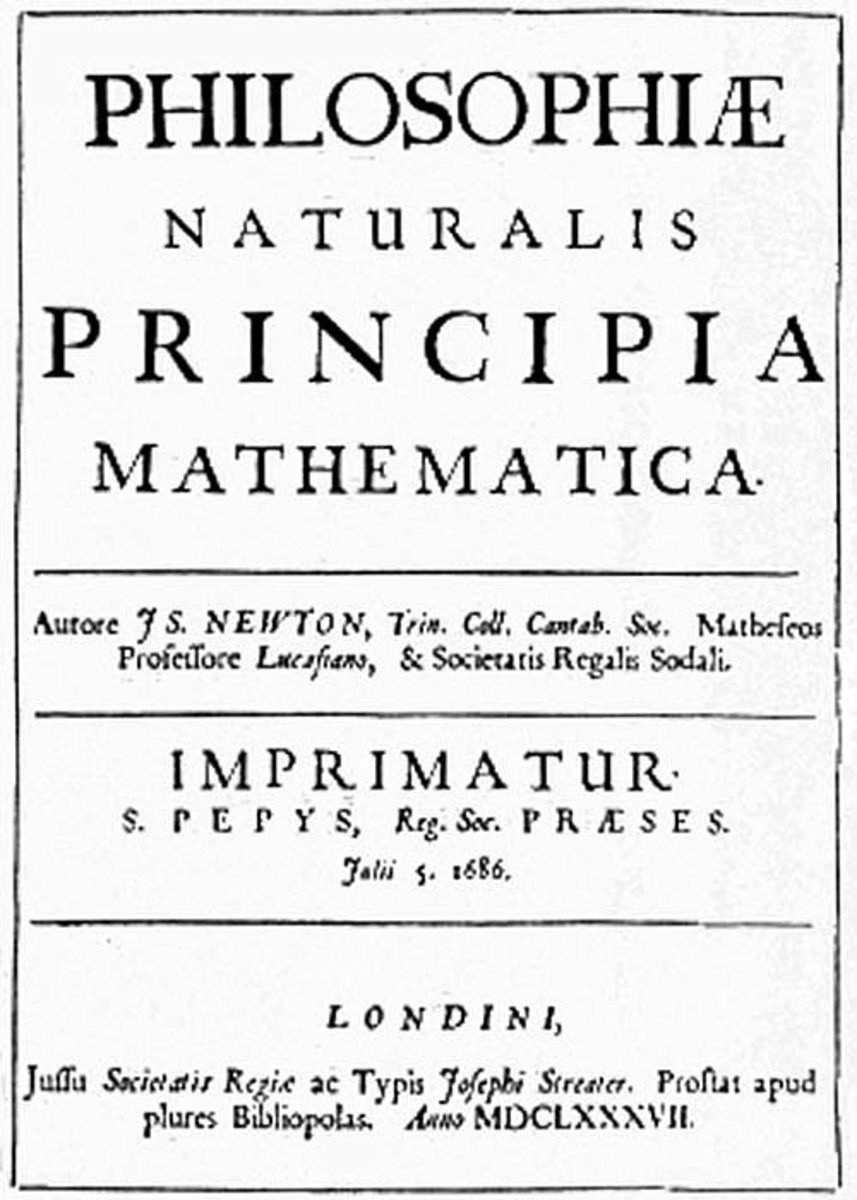 Newton's breakthrough work Philosophiae Naturalis Principia Mathematica was published in 1687. (Image: JS Newton [Public domain], via Wikimedia Commons)
