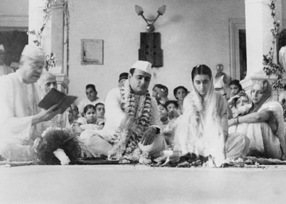 Feroze and Indira Gandhi Wedding via Wikimedia Commobs