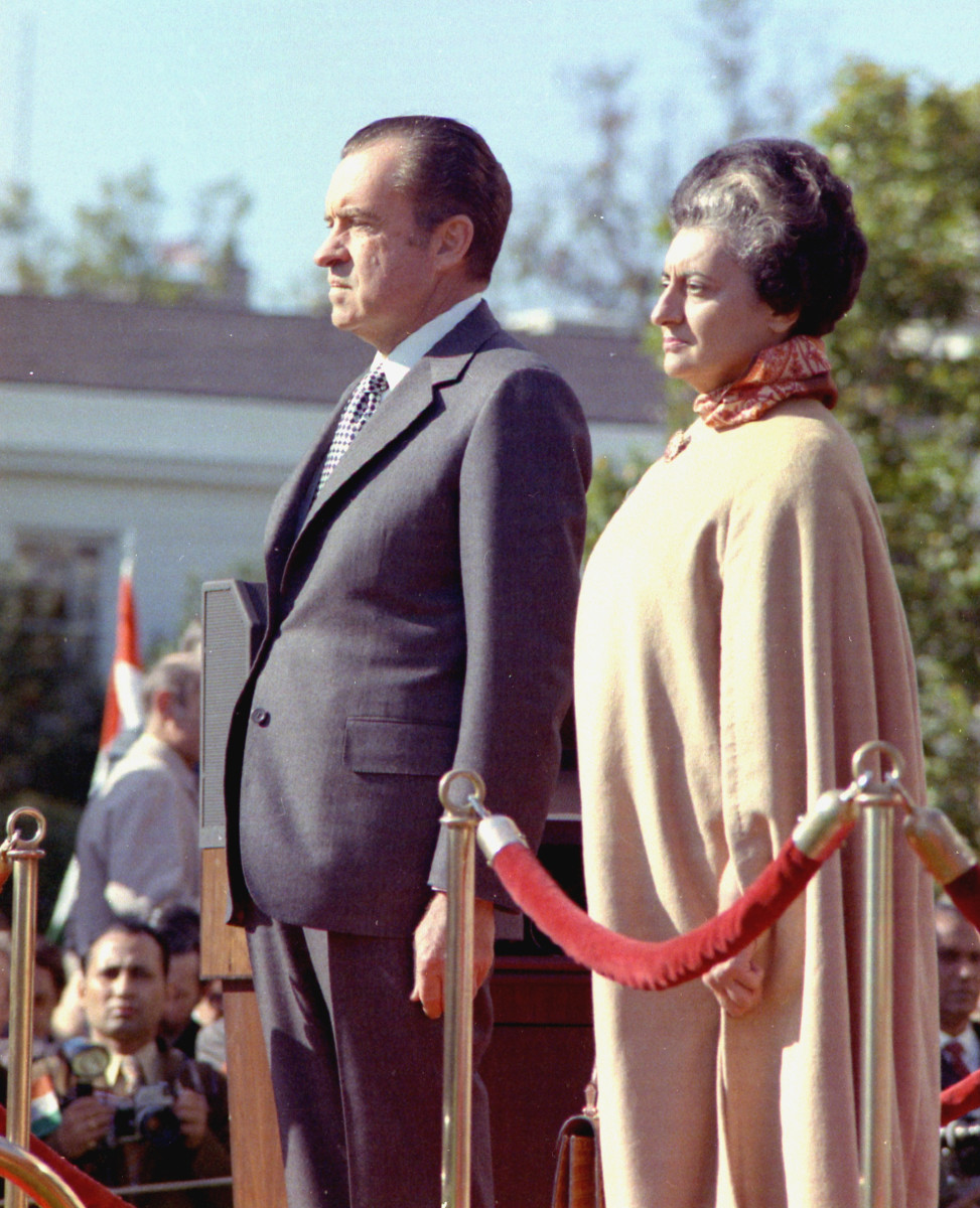 Richard Nixon Indira Gandhi Photo via Wikimedia Commons