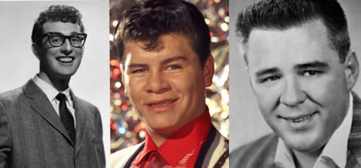 "Buddy Holly, Ritchie Valens and J.P. ""The Big Bopper"" Richardson died in a plane crash on February 3, 1959"