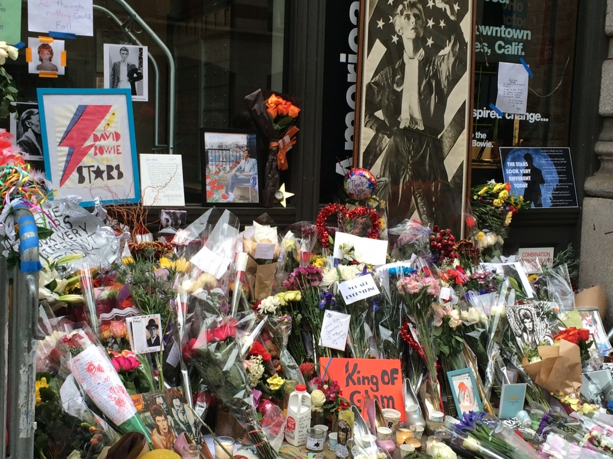 David Bowie Memorial Soho Photo