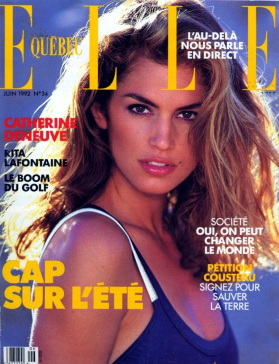 Cindy Crawford Magazine Cover Photo