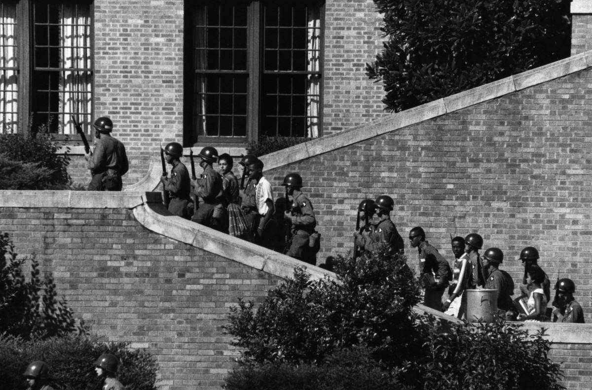Little Rock Nine Photo Courtesy U.S. Army Wikimedia Commons