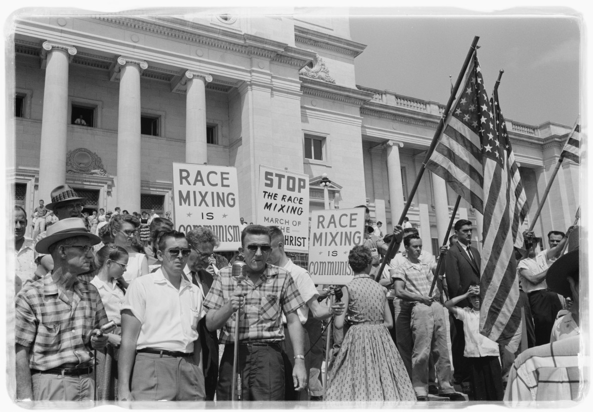 Little Rock Integration Protest Photo Courtesy Library of Congess