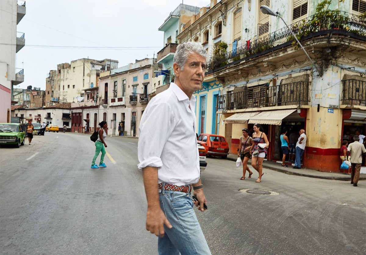 Anthony Bourdain in Cuba Photo Courtesy of Travel Channel