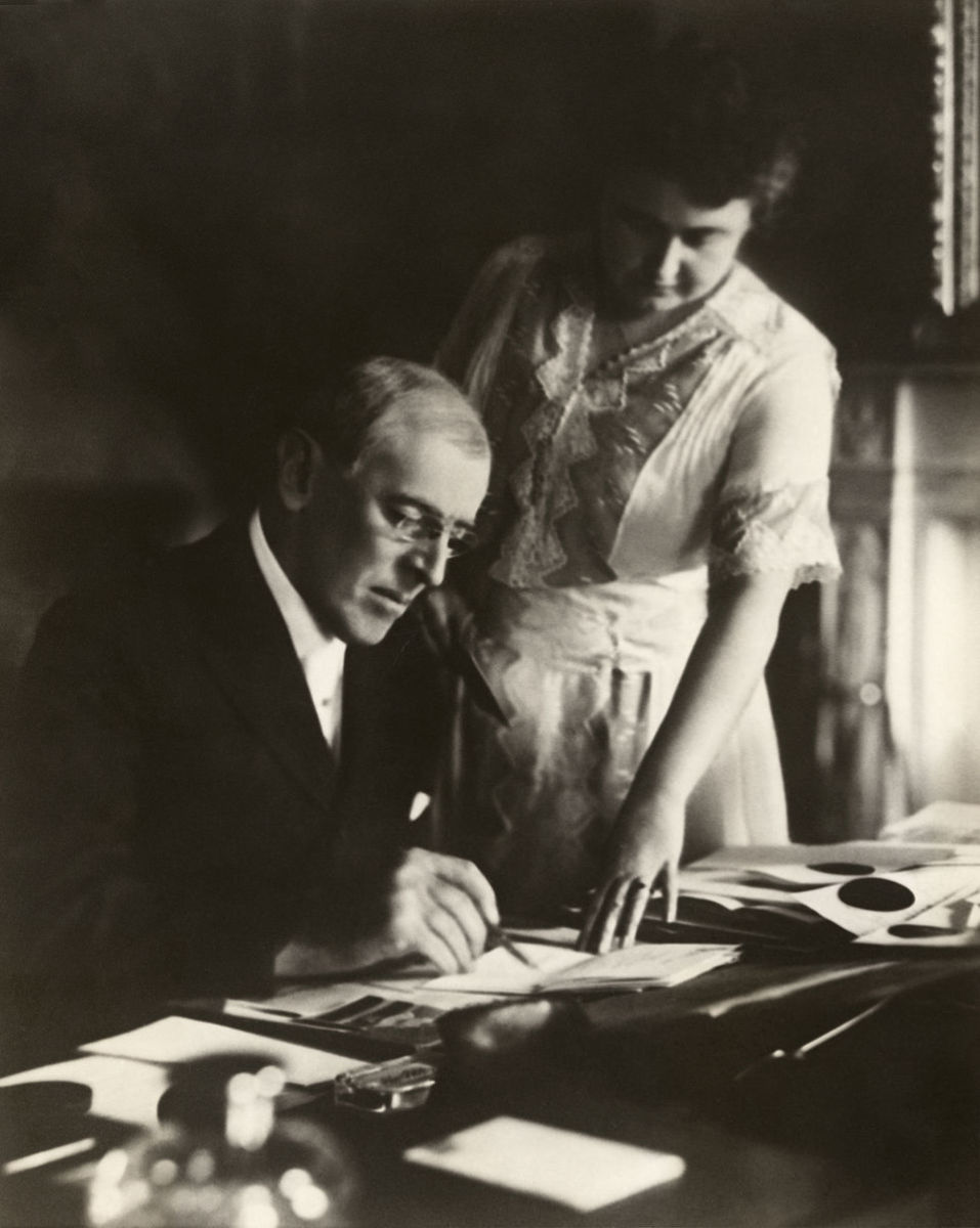 Woodrow and Edith Wilson Photo