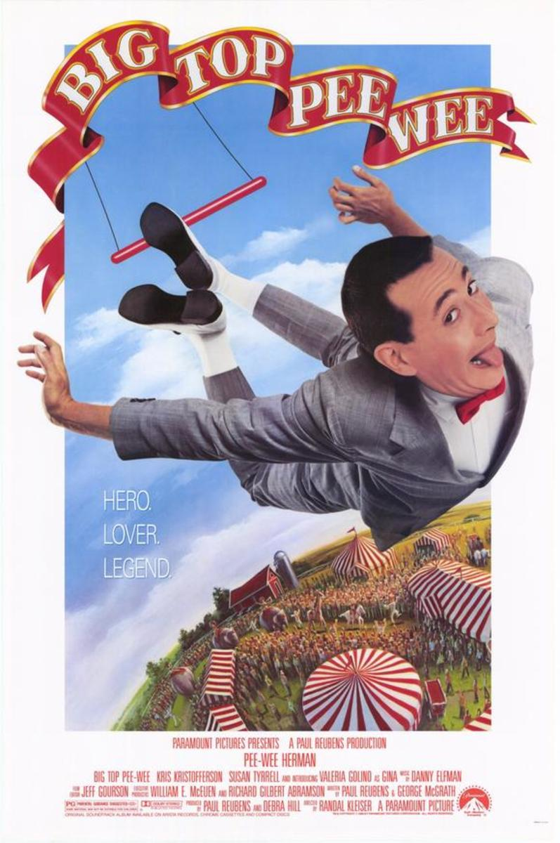 Big Top Pee Wee Movie Poster Courtesy Paramount Pictures