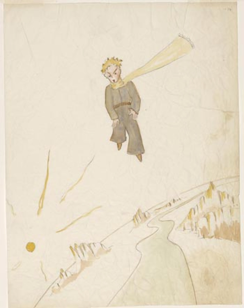 Antoine de Saint-Exupéry Drawing of The Little Prince © Estate of Antoine de Saint-Exupéry. Photography by Graham S. Haber, The Morgan Library