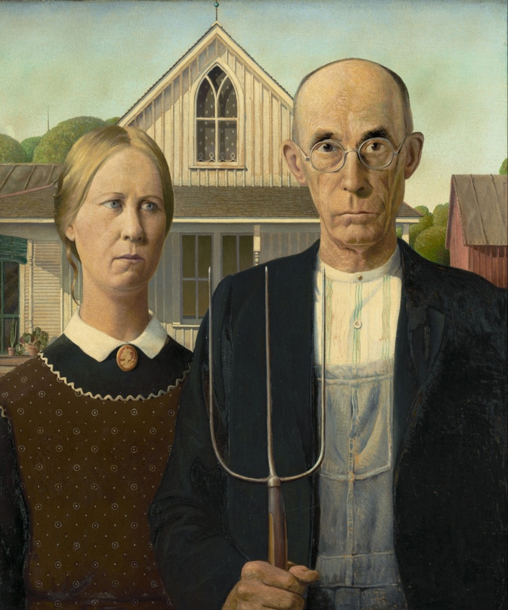 American Gothic Grant Wood Photo Wikicommons