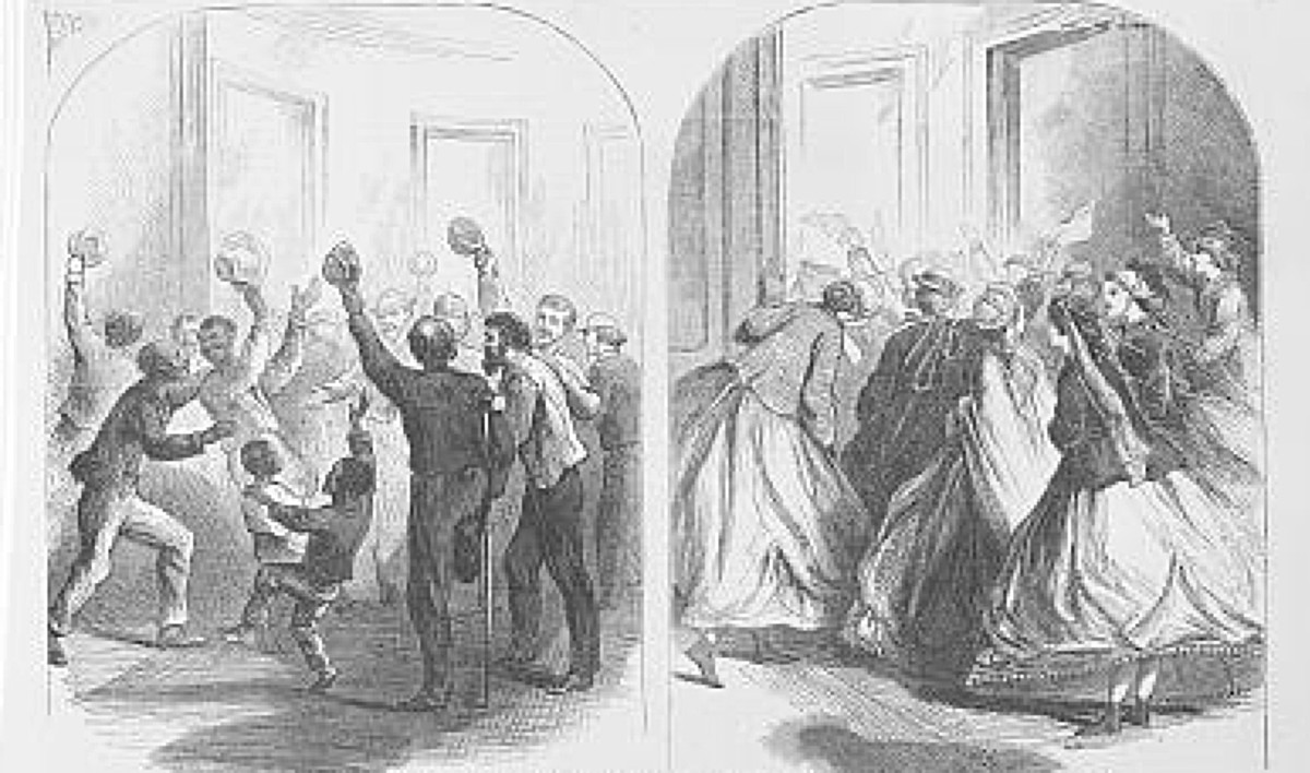 Passage of Civil Rights Act of 1866 Harpers Weekly Cartoon Library of Congress