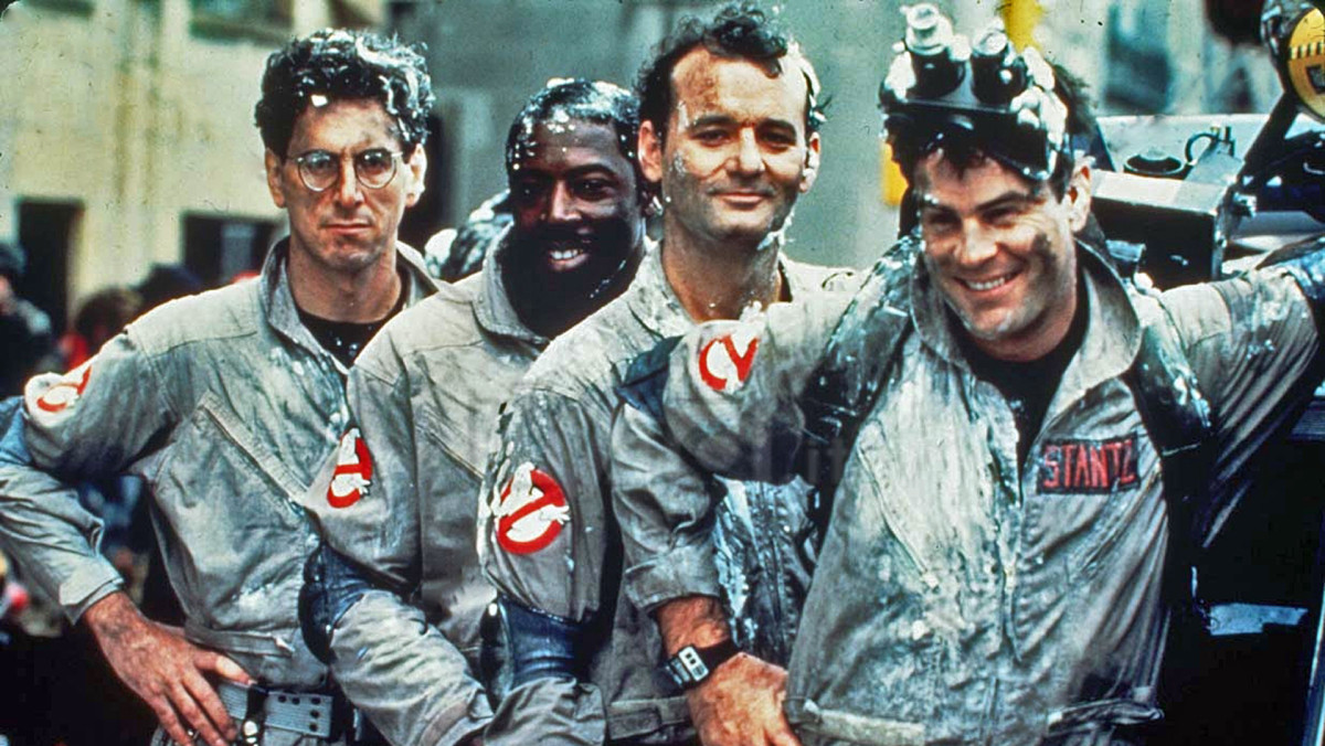 Harold Ramis Ernie Hudson Bill Murray Dan Aykroyd in Ghostbusters Photo Sony Pictures Home Entertainment