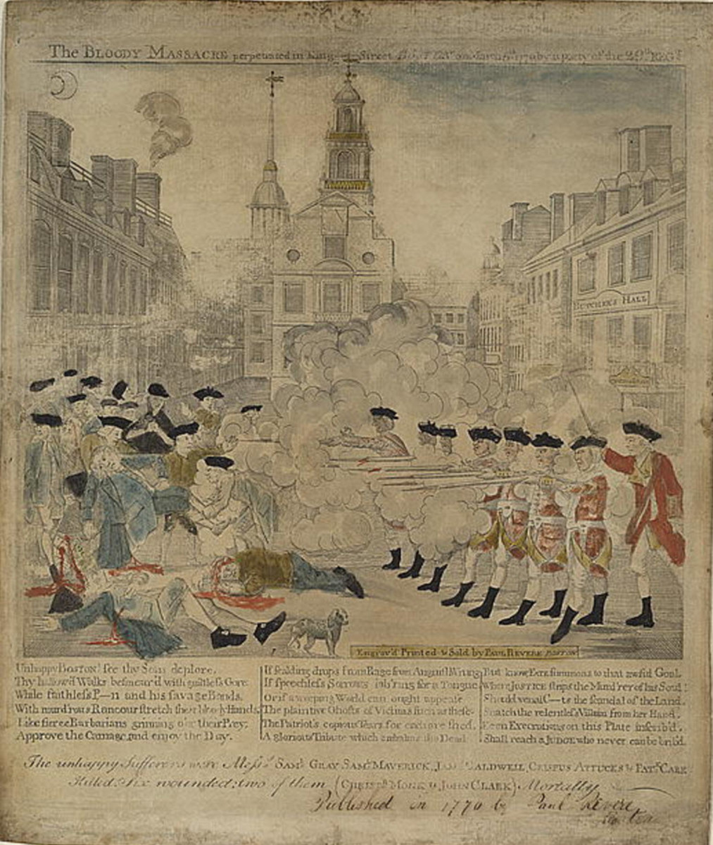 Boston Massacre Engraving Courtesy Library of Congress