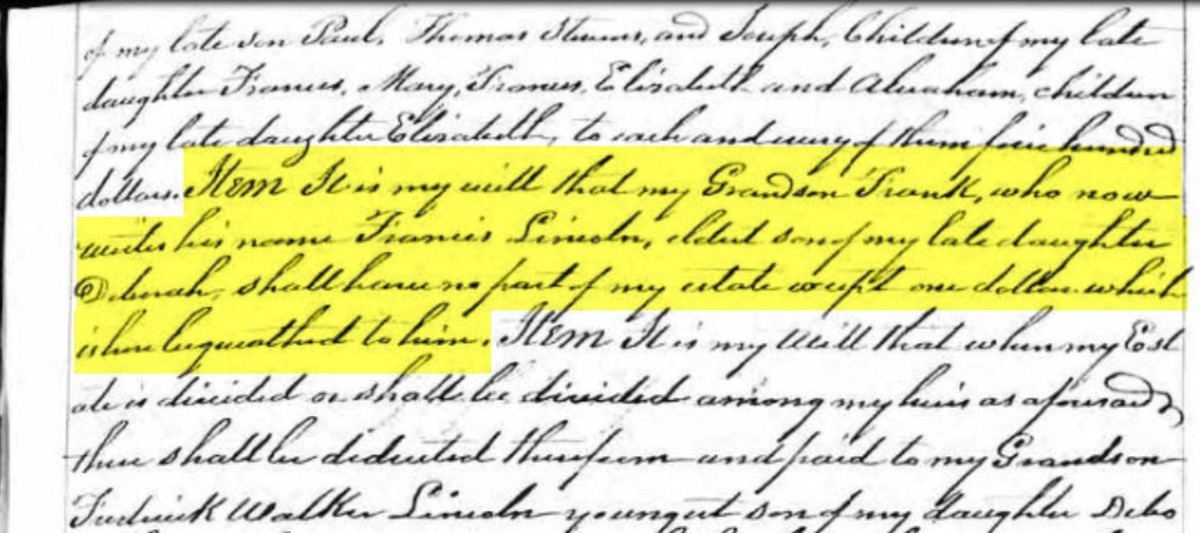 Paul Revere's will from Massachusetts, Wills and Probates, 1635-1991 on Ancestry. (Courtesy: Ancestry)