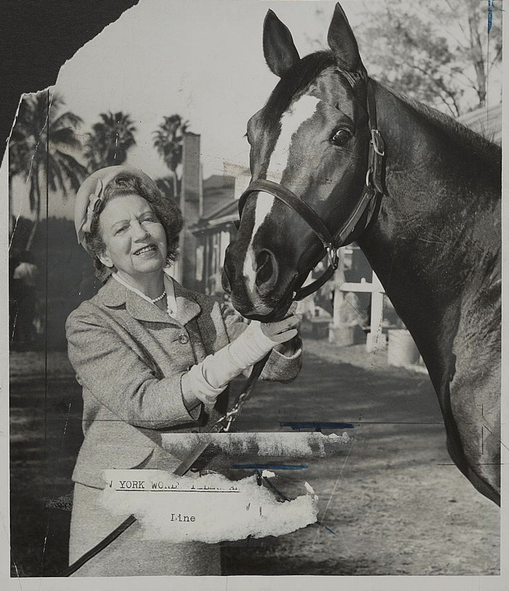 Elizabeth Arden and Her Race Horse Photo by Bill Greene/Library of Congress