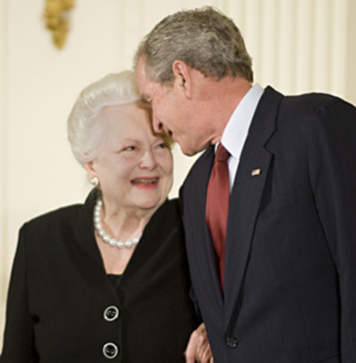 Olivia de Havilland and George W. Bush 2008