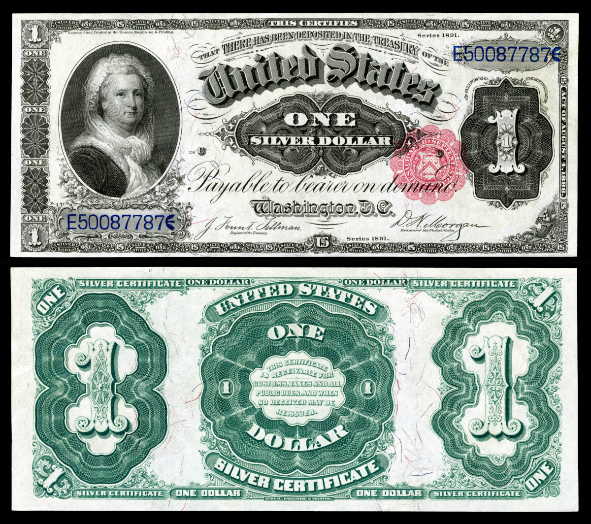 Martha Washington U.S. Paper Currency Photo