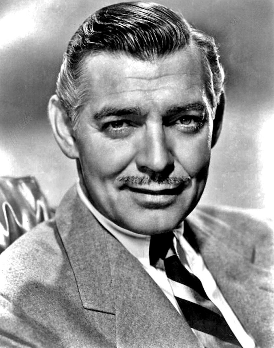 Clark Gable 1940 Publicity Still Photo Public Domain via Wikimedia Commons