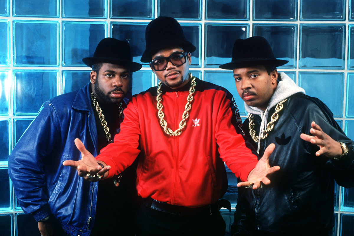 DJ Jason 'Jam Master Jay' Mizell, Darryl 'D.M.C.' McDaniels and Joseph 'Run' Simmons of Run DMC photographed in New York. 1988 Frank Micelotta Archive/Getty_Images-2238206