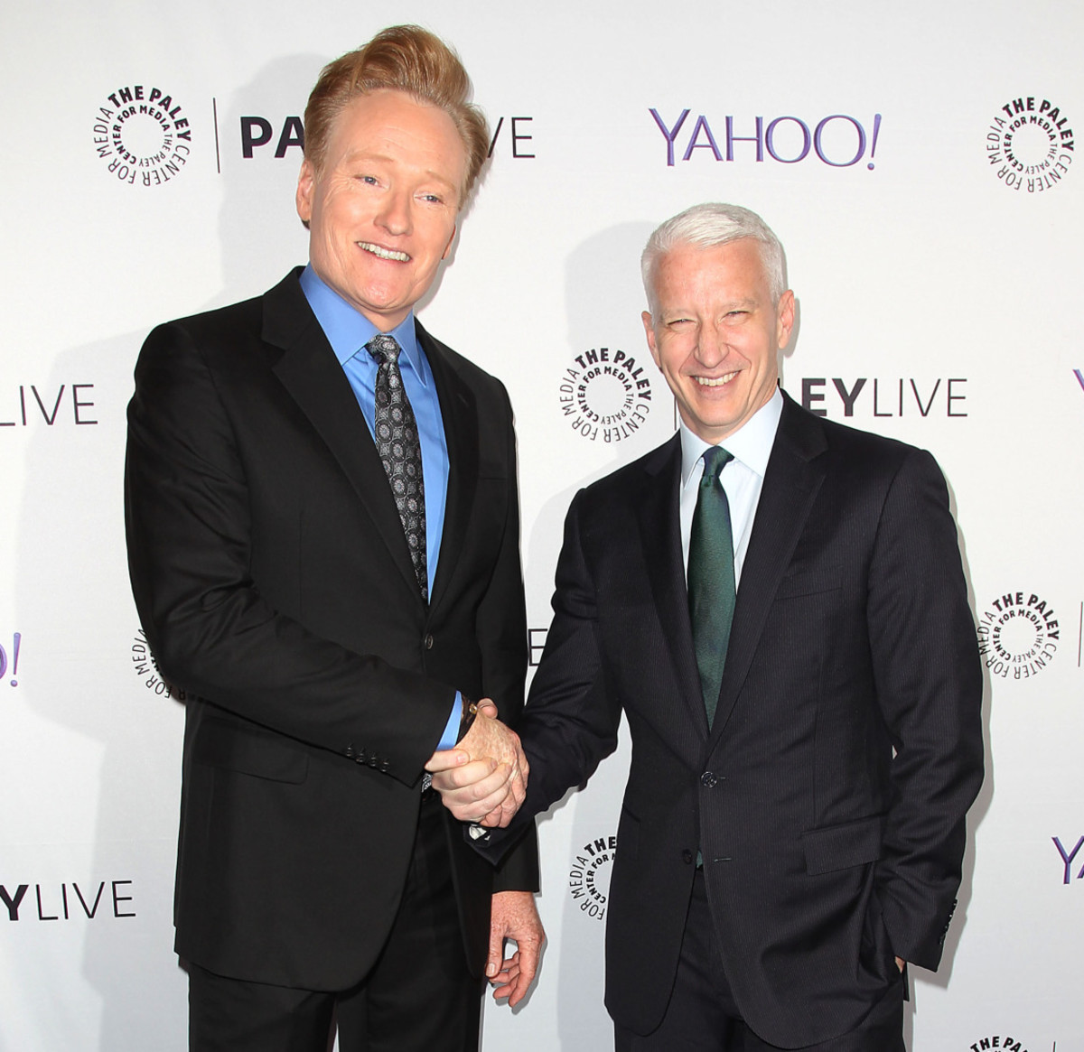 Conan O'Brien and Anderson Cooper at The Paley Center for Media last week. (Photo: Courtesy The Paley Center for Media)