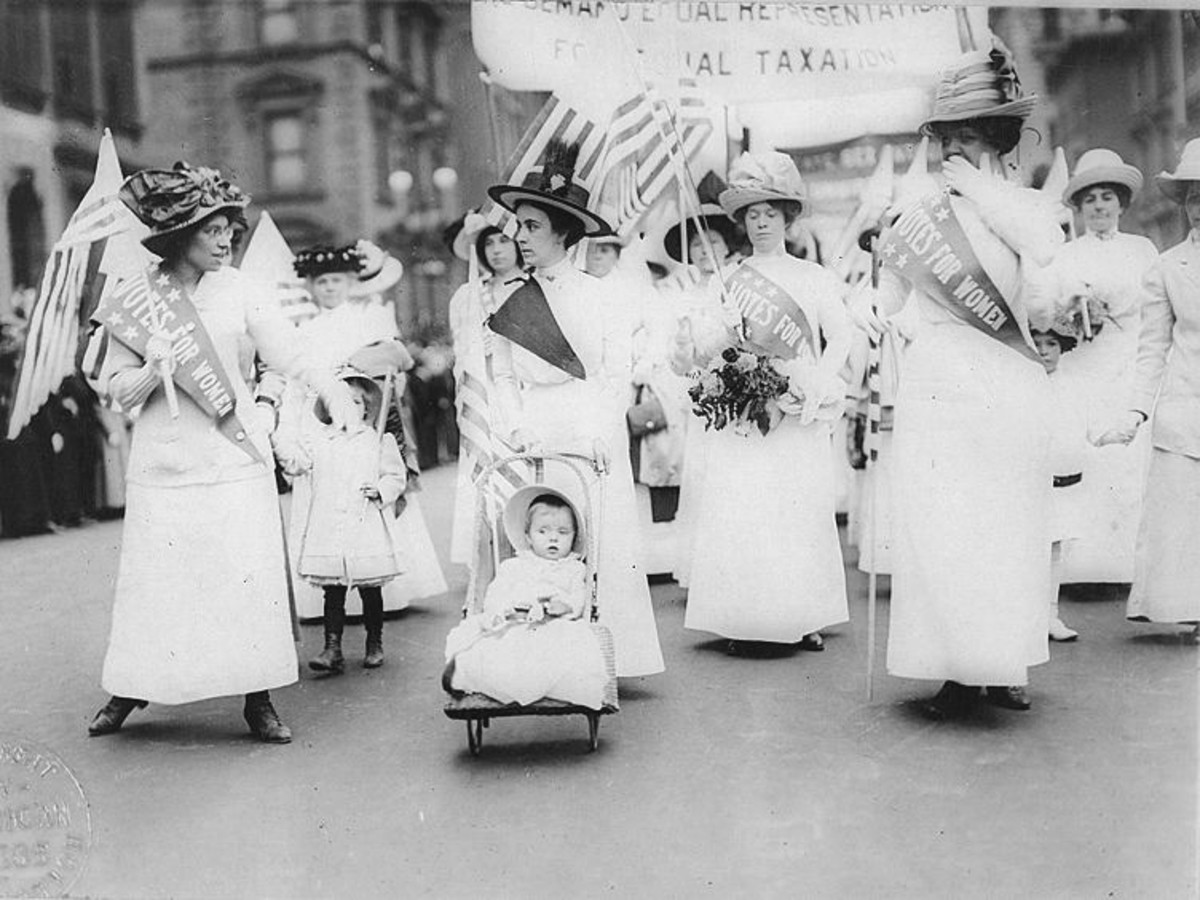 herstory the women behind the 19th amendment com feminist suffragist parade 1912 photo