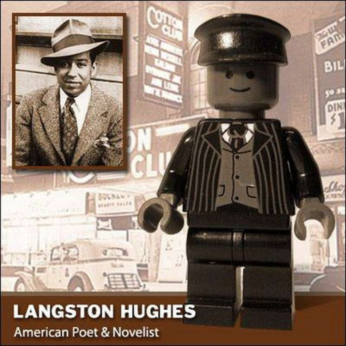 Langston Hughes Lego Photo