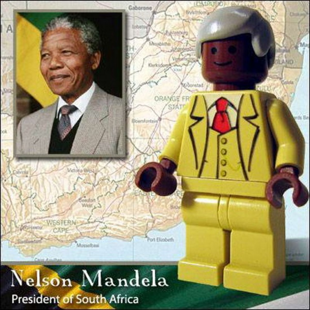 Nelson Mandela Lego Photo