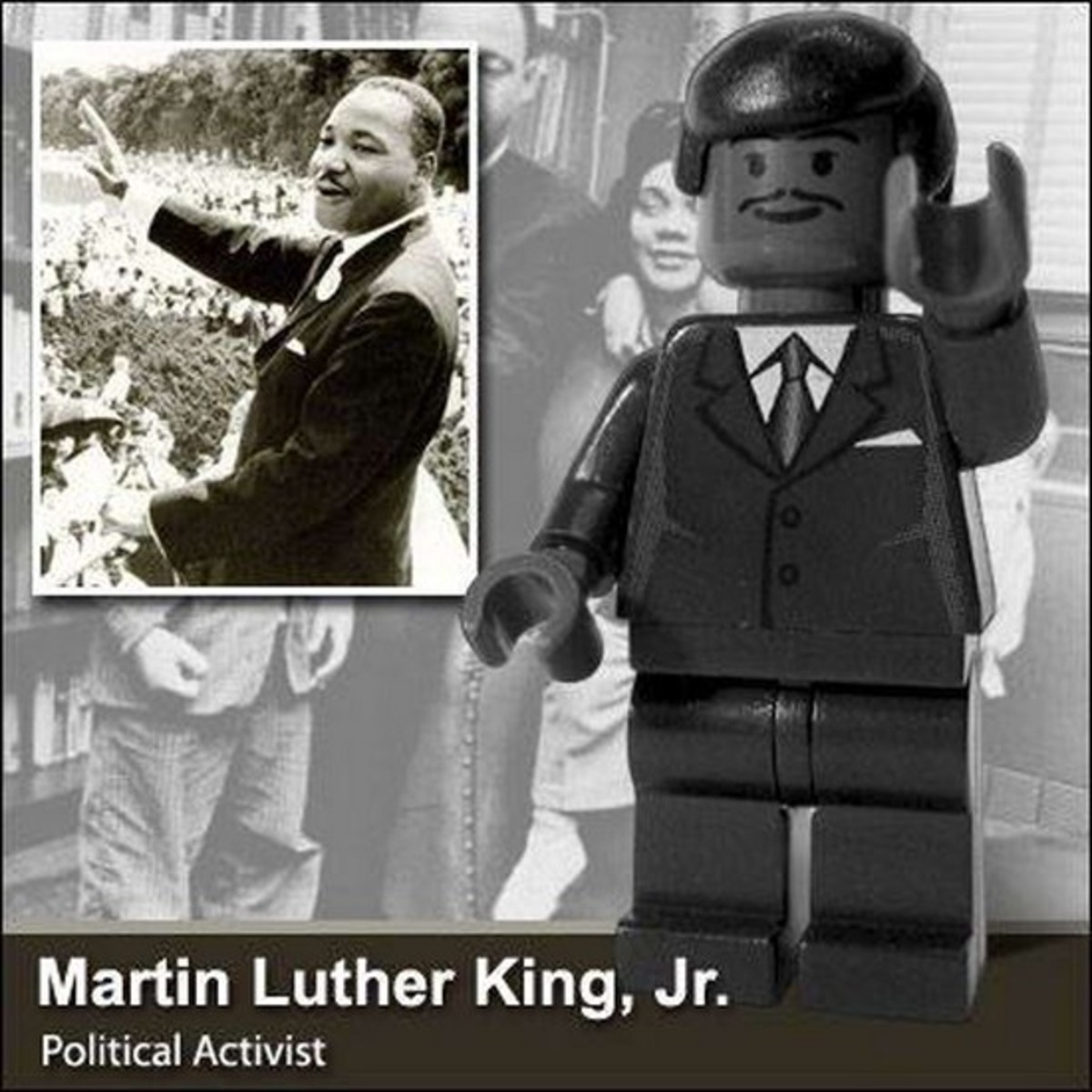 Martin Luther KIng Jr. in Lego Photo