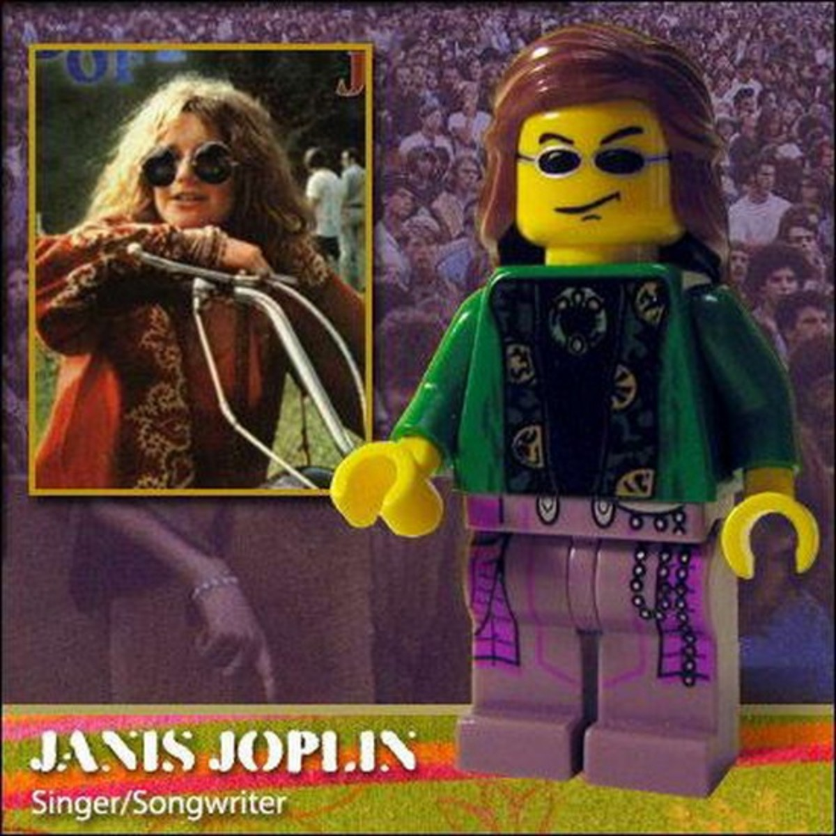 Janis Joplin Lego Photo