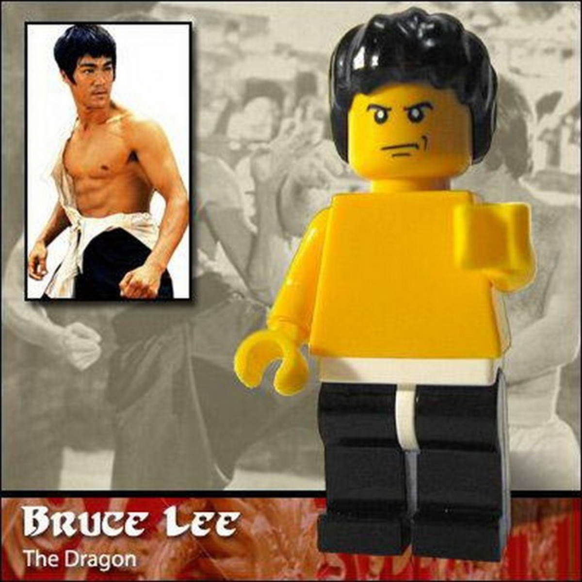 Bruce Lee Lego Photo