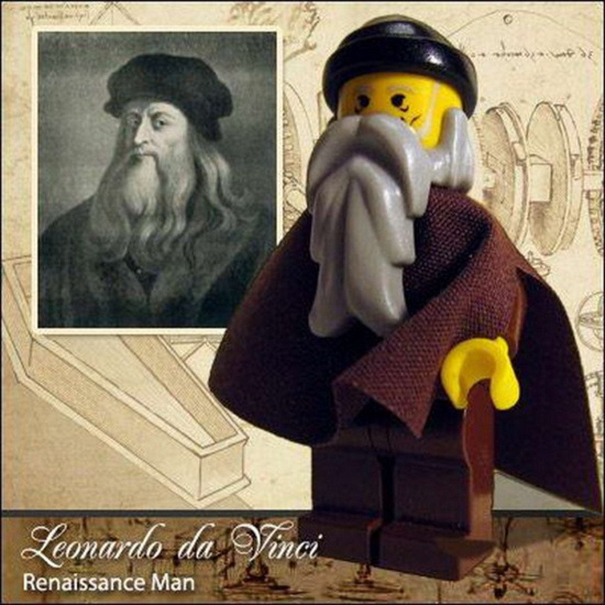 Leonardo da Vinci Lego Photo