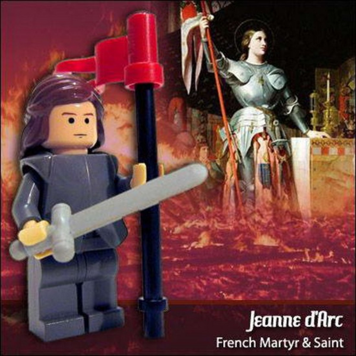 Joan of Arc Lego Photo