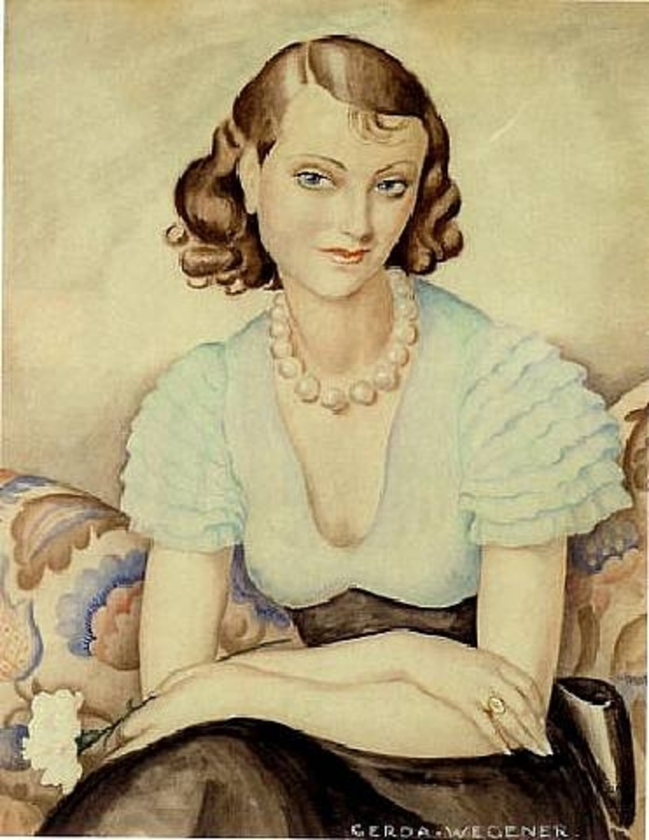 Gerda Wegener self portrait