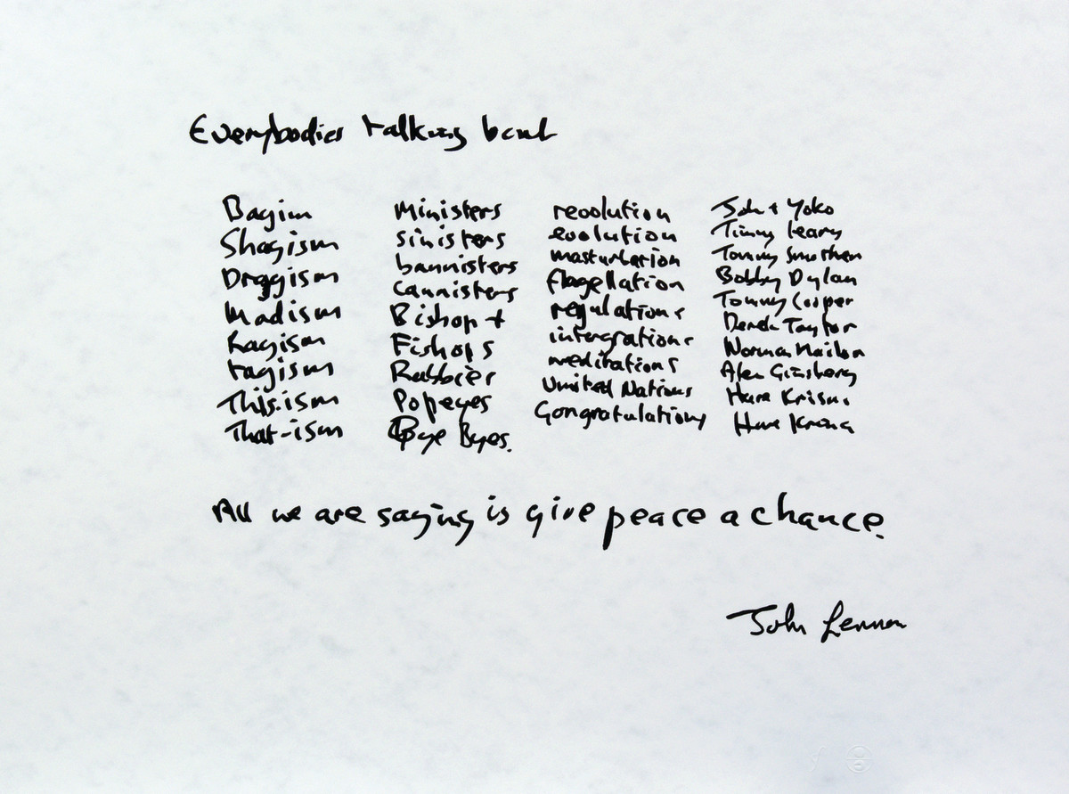 "John Lennon ""Give Peace a Chance"" Photo"