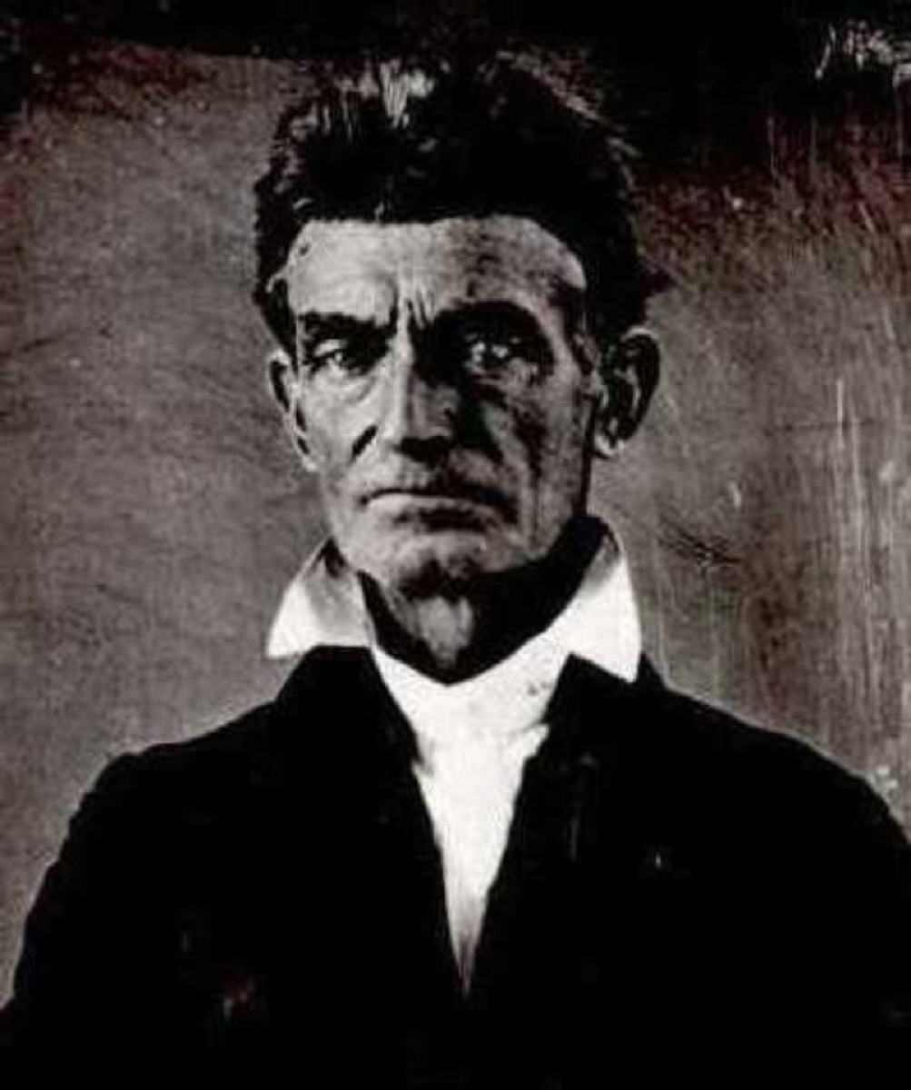 terrorist or dom fighter john brown s raid on harpers ferry  john brown photo