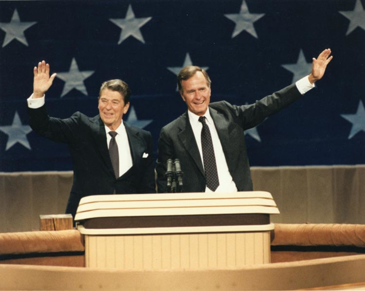 Ronald Reagan and George H.W. Bush in 1984