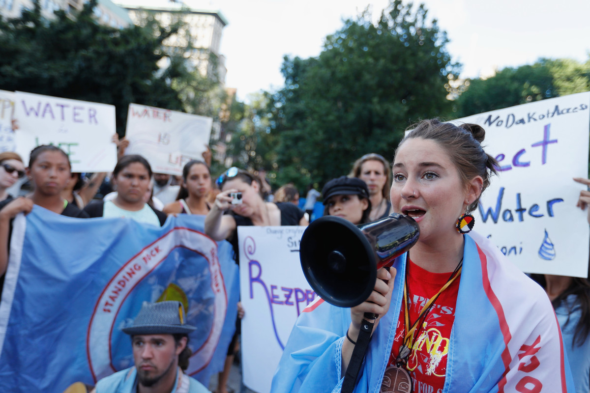 Shailene Woodley Dakota Access Pipeline Protest Photo