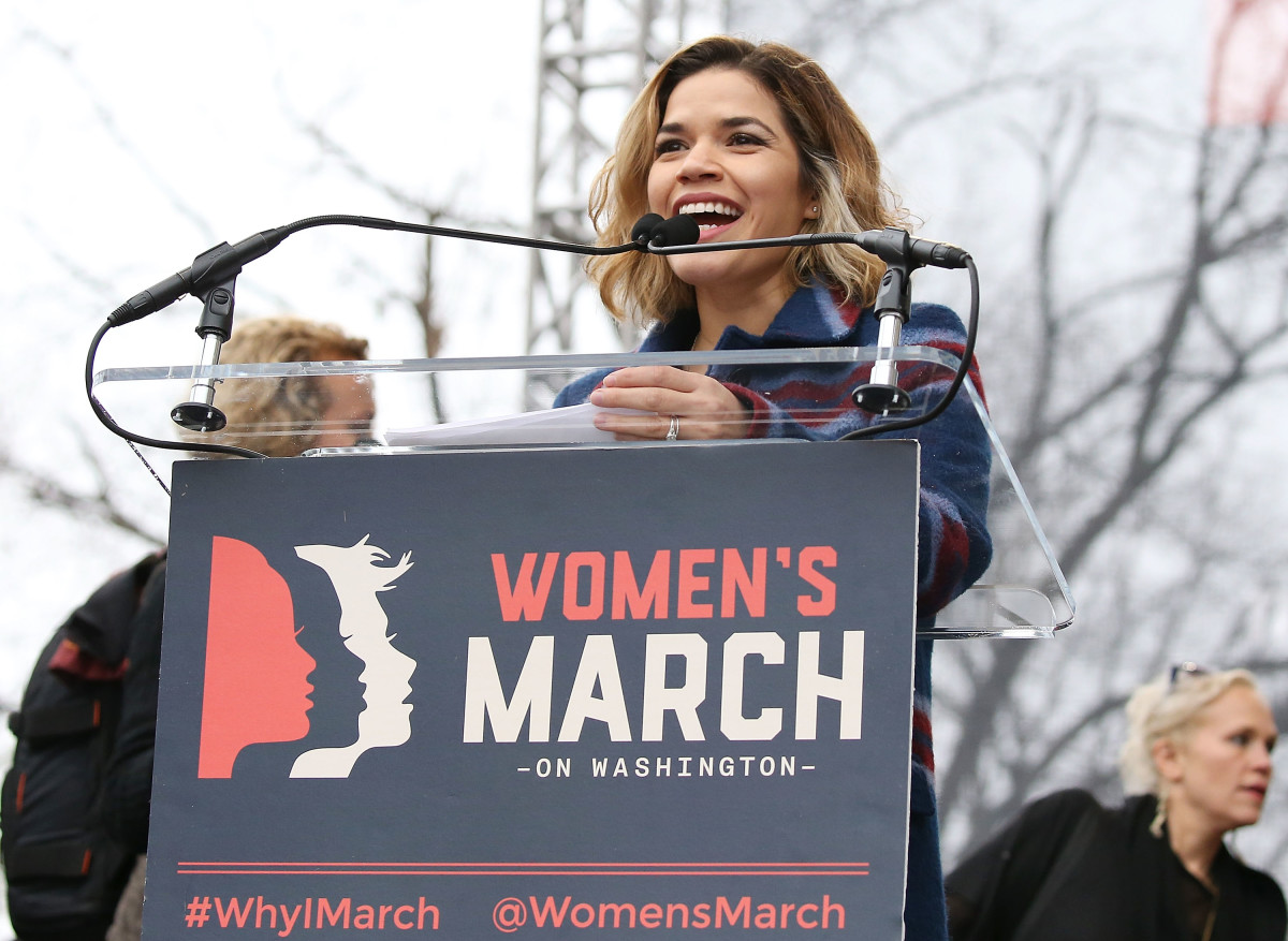 America Ferrera Women's March D.C. Photo