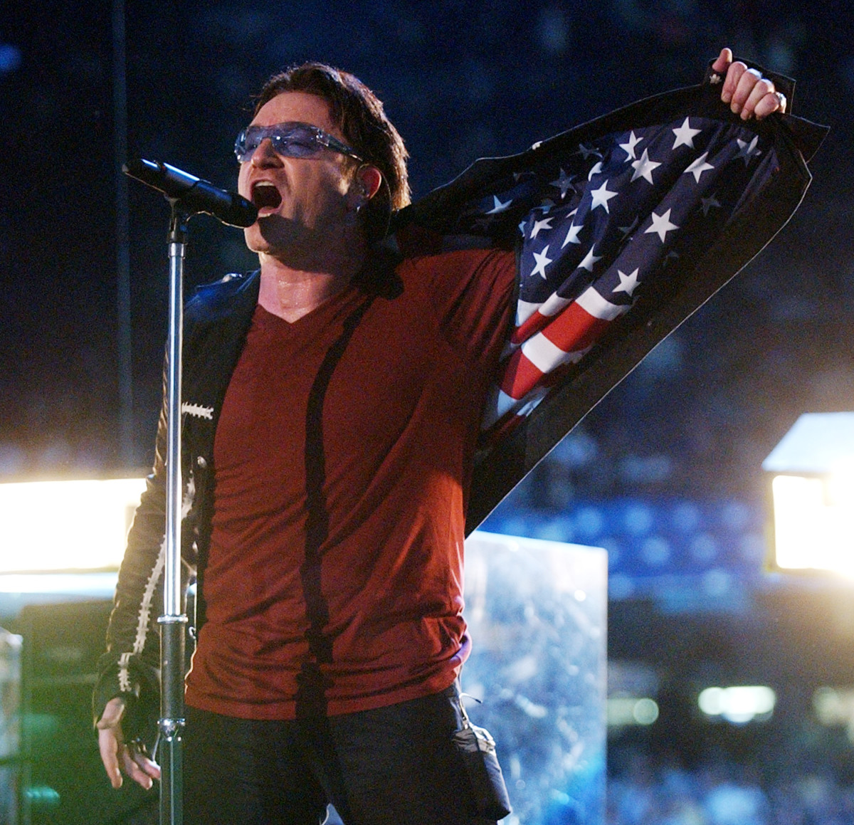 U2 Super Bowl Halftime 2002 Photo
