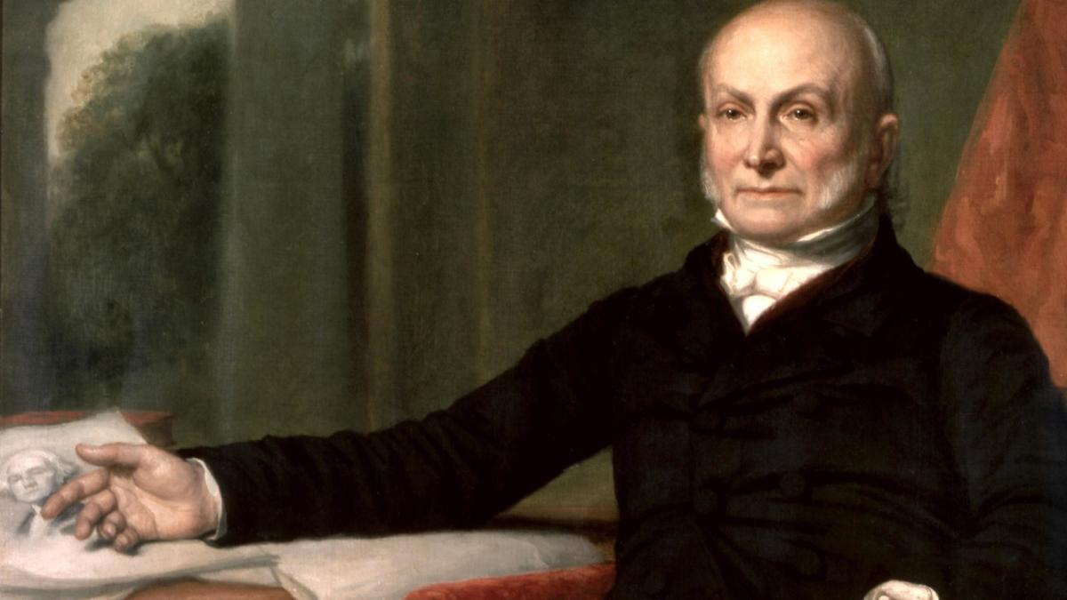 john quincy adams pushed into politics biography