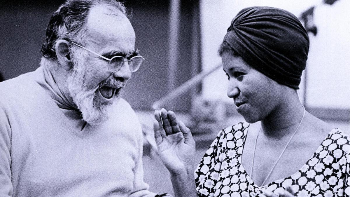 Jerry Wexler and Aretha Franklin.