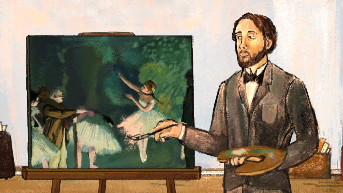 a biography of edgar degas Edgar degas biography hilaire-germain-edgar de gas was born in paris, france to celestine musson and augustin de gas as a young adult he changed the spelling of his last name from 'de gas' to 'degas,' to seem less pretentious degas was the son of a banker, and grew up in a relatively wealthy family.