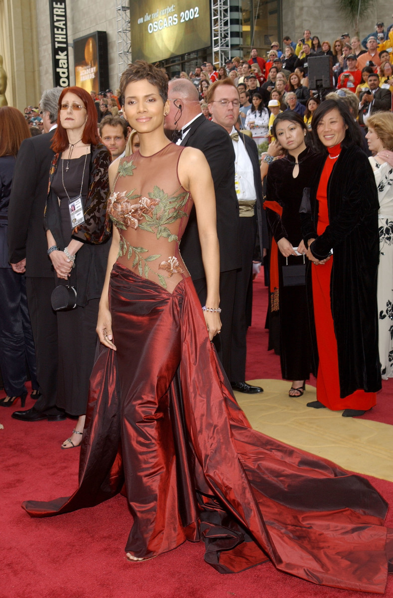 Halle Berry Oscars Dress 2002