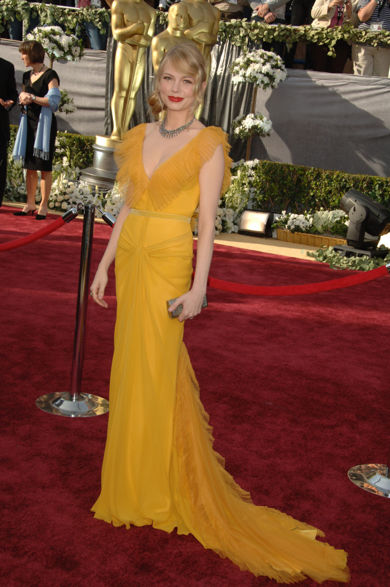 Michelle Williams 2006 Oscar Dress Photo