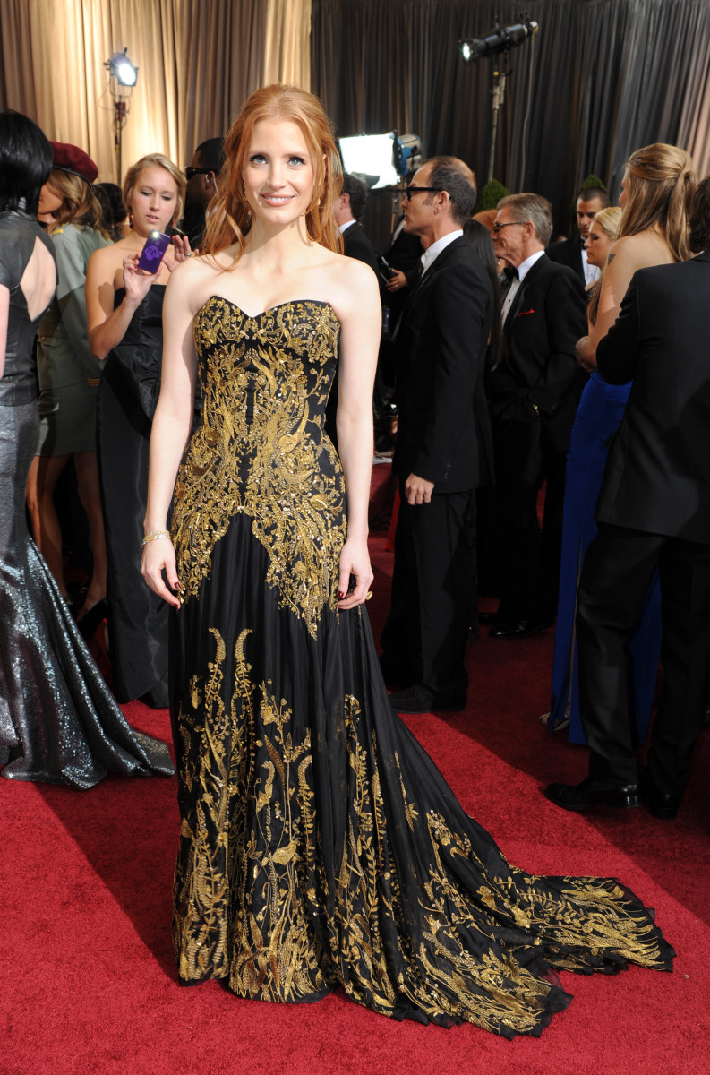 Jessica Chastain 2012 Oscars Dress Photo